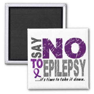 Diga NO a la epilepsia 1 Imán De Frigorifico