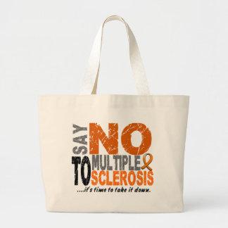 Diga NO a la esclerosis múltiple 1 Bolsas Lienzo
