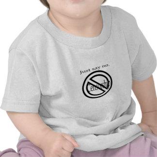 Diga no a la ropa de la censura camisetas