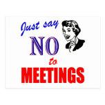 Diga no a la señora del humor de la oficina de las tarjetas postales