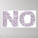 Diga no a la violencia, al abuso, a las drogas, al impresiones