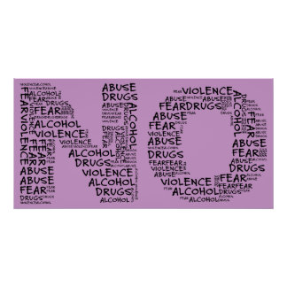 Diga no a la violencia, al abuso, a las drogas, al póster