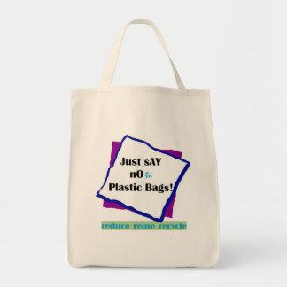 Diga no a las bolsas de plástico