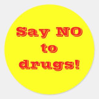Diga no a las drogas - pegatina