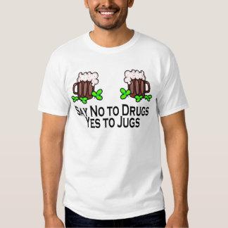 Diga no a las drogas sí a los jarros remera