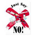 Diga no a las drogas tarjetas postales