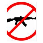 Diga no a los armas postal