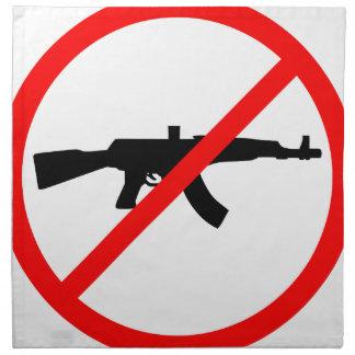 Diga no a los armas servilleta imprimida