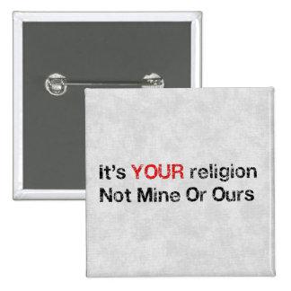 Diga no a los cultos de dios pins