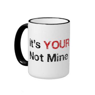 Diga no a los cultos de dios tazas de café