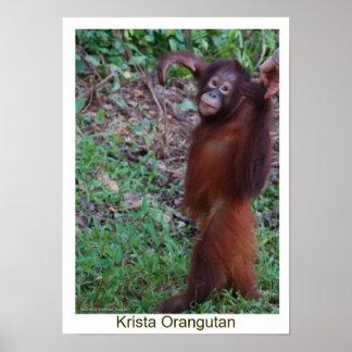 Diga no a los matones - orangután de Krista Póster