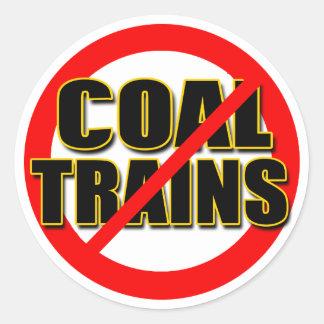 Diga NO a los trenes del carbón en el nanovatio pa Pegatinas