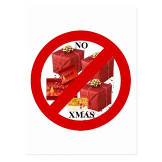 Diga NO a Navidad Tarjetas Postales