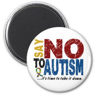 Diga NO al autismo 1 Imán De Nevera