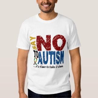 Diga NO al autismo 1 Playeras