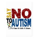Diga NO al autismo 1 Postal