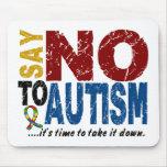 Diga NO al autismo 1 Tapete De Ratones