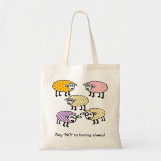 "Diga ""NO"" al bolso aburrido de las ovejas"