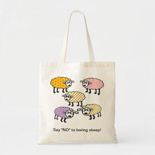 """Diga """"NO"""" al bolso aburrido de las ovejas Bolsa Tela Barata"""