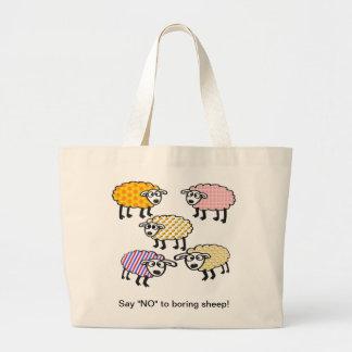 """Diga """"NO"""" al bolso aburrido de las ovejas Bolsa Tela Grande"""