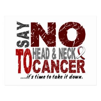 Diga NO al cáncer de cabeza y cuello 1 Postales