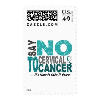 Diga NO al cáncer de cuello del útero 1 Sellos