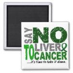 Diga NO al cáncer de hígado 1 Iman De Nevera