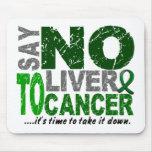 Diga NO al cáncer de hígado 1 Tapetes De Raton