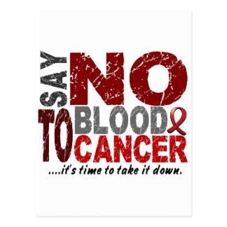 Diga NO al cáncer de sangre 1 Tarjeta Postal