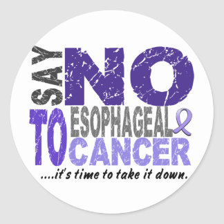 Diga NO al cáncer del esófago 1 Etiqueta Redonda