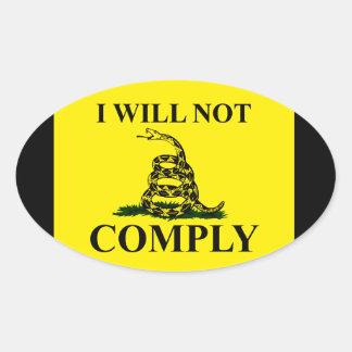 ¡Diga NO al comunismo! Pegatina Ovalada