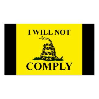 ¡Diga NO al comunismo! Tarjetas De Visita