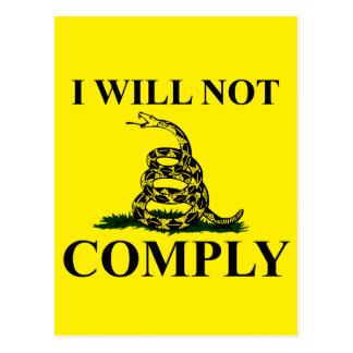 ¡Diga NO al comunismo! Postal