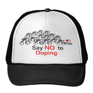 Diga no al doping en el ciclo gorro de camionero