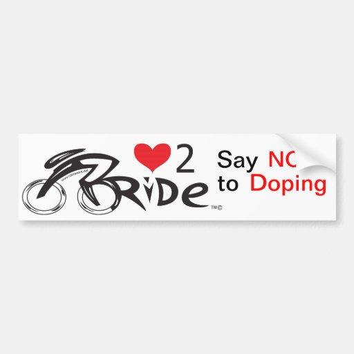 Diga NO al doping Pegatina De Parachoque