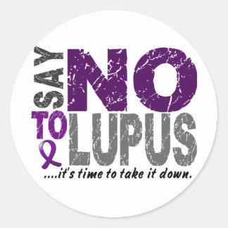 Diga NO al lupus 1 Etiqueta Redonda