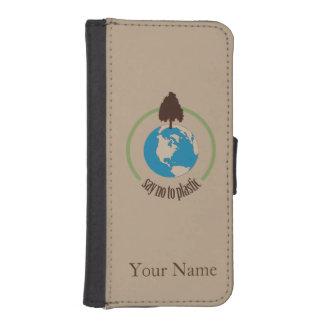 Diga no al plástico billetera para iPhone 5