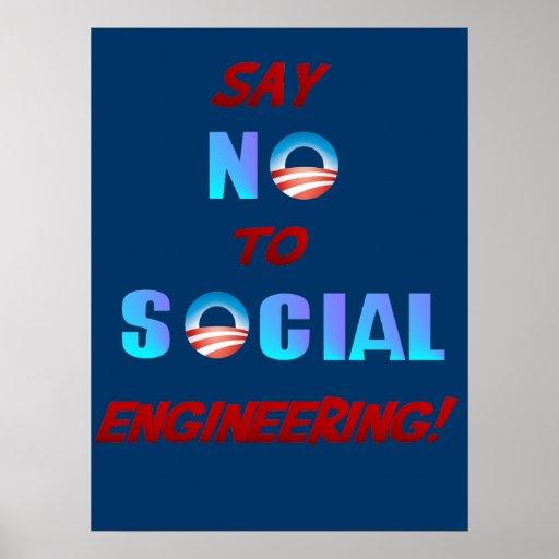 Diga NO al poster de la ingeniería social