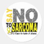 Diga NO al sarcoma 1 Etiquetas Redondas