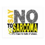Diga NO al sarcoma 1 Tarjeta Postal