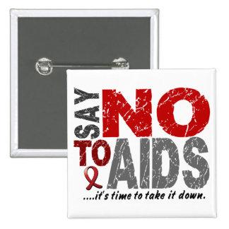 Diga NO al SIDA 1 Pin Cuadrado