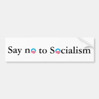 Diga no al socialismo pegatina para auto