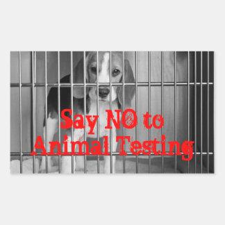 Diga no pegatina del beagle de los ensayos con an