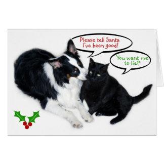 ¡Diga por favor Santa! Tarjeta De Felicitación