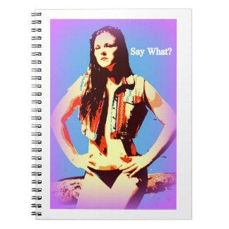 diga qué cuaderno del chica del bikini