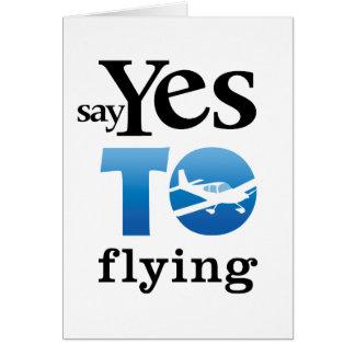 Diga sí a volar felicitacion