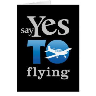Diga sí a volar tarjetón