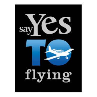 Diga sí a volar postal