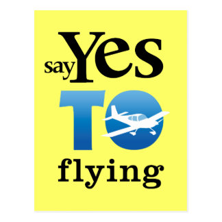 Diga sí a volar tarjetas postales