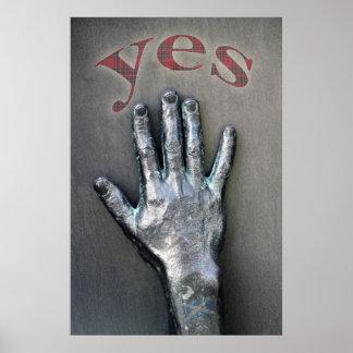 Diga sí el poster de la independencia de Escocia